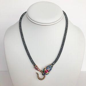 Betsey Johnson Dark Shadows Mesh Snake Necklace